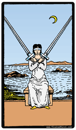 taro card Two of Swords