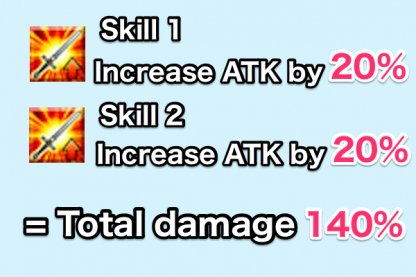 ATK Buff used two times