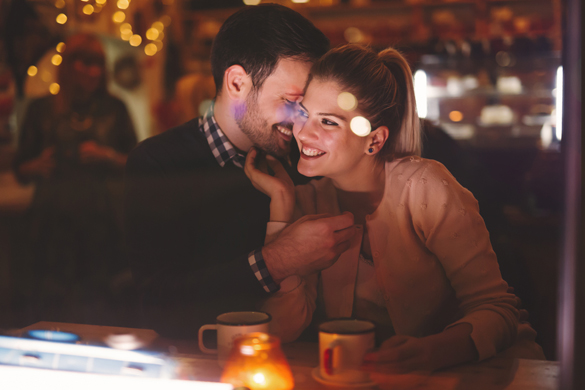 Romantic couple dating at night in pub - Why Hasn't My Scorpio Man Busted A Move Yet