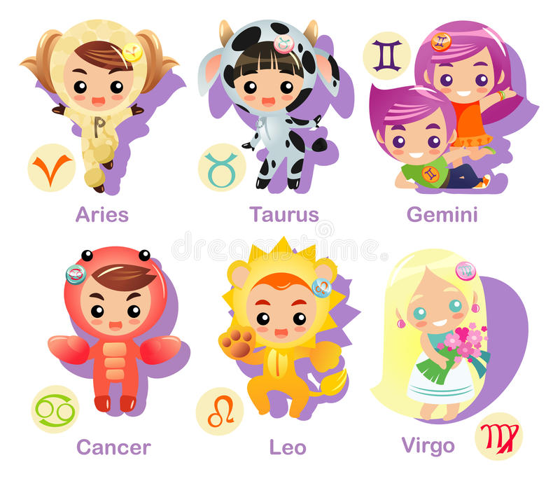 Horoscope signs Icon set part 1 vector illustration