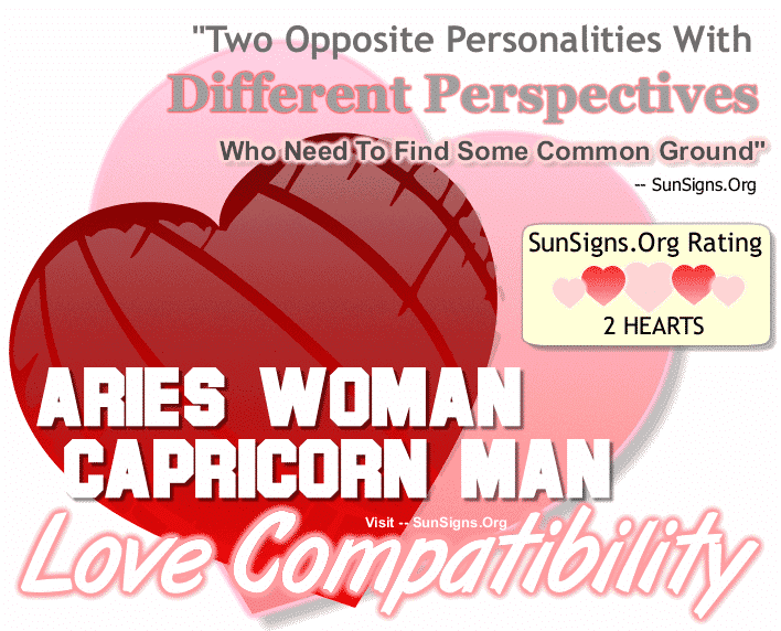Aries Woman Capricorn Man Love Compatibility