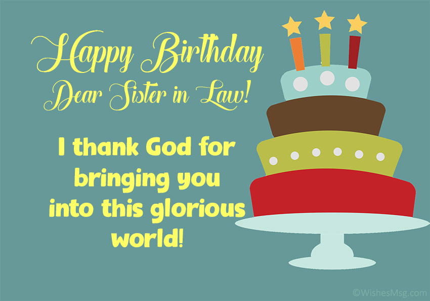 Religious Birthday Messages for Sister in Law