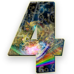 The numerology meaning of the number 4; nicknamed the salt of the earth, the most reliable of all numbers