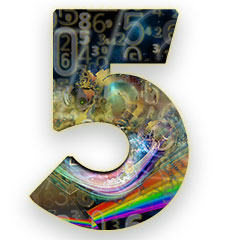 The numerology meaning of the number 5; The most dynamic of all numbers, the number of freedom