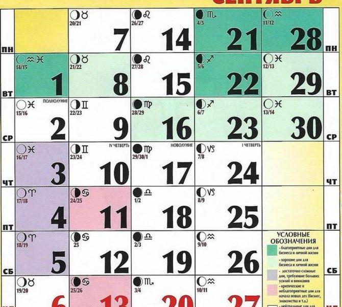 Лунный календарь сент 2020: Лунный календарь на Сентябрь 2020 года, Лунные дни и фазы Луны в Сентябре 2020 года
